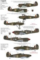 Xtradecal 1/72 SAAF Fighters WW2 Collection Pt1 # 72321